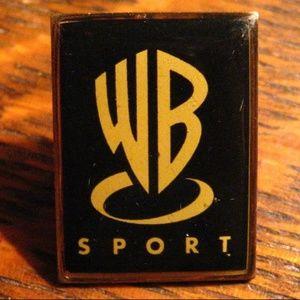 Warner Brothers Bros Sport Vintage Media Lapel Pin
